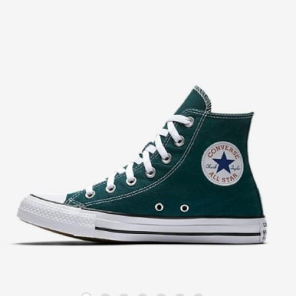Dark Green Hightop Converse | Poshmark